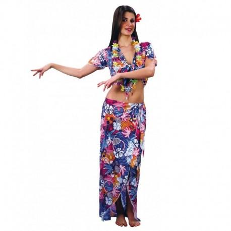 Disfraz de hawaiana de chica