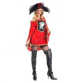 Disfraz de mosquetera roja