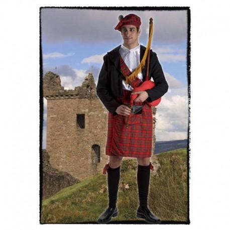 Disfraz de escoces lujo