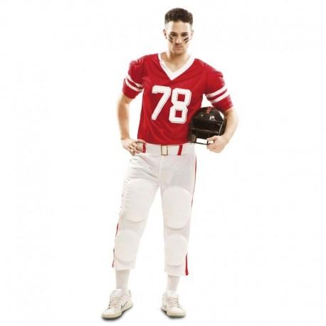 Disfraz de rugby rojo xl