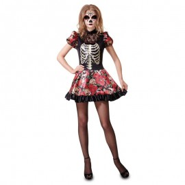 Disfraz de esqueleto chica mexican