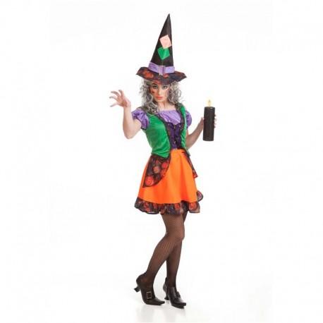 Disfraz de bruja colorines