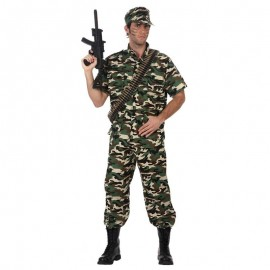Disfraz de militar manga corta