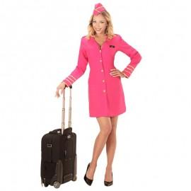 Disfraz de azafata rosa