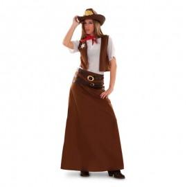 Disfraz de vaquera falda larga