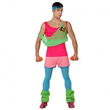 Disfraz de aerobic chico años 80