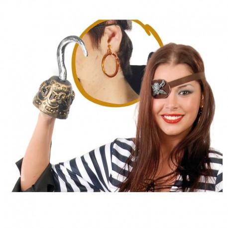 Garfio de pirata con accesorios