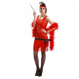 Disfraz de charleston flecos rojos