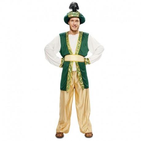 Disfraz de paje Sultan verde