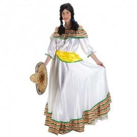 Disfraz de mejicana blanco