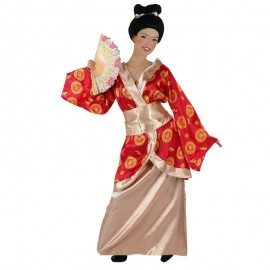 Disfraz de geisha granate