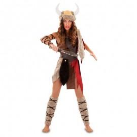 Disfraz de vikinga lujo