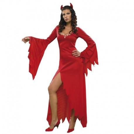 Disfraz de demonia hechicera roja