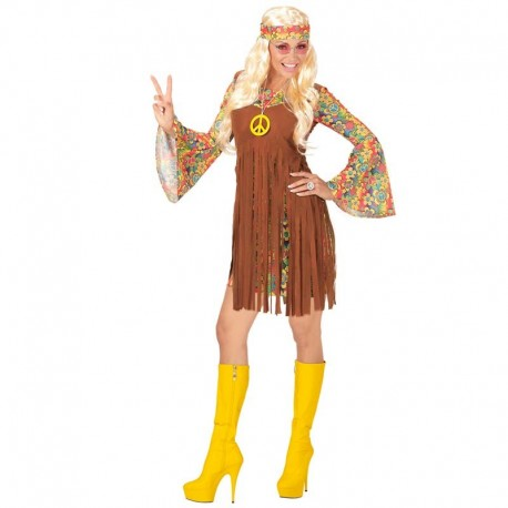Disfraz de hippie chica corto