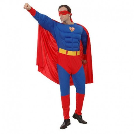 Disfraz de Superman musculoso XL