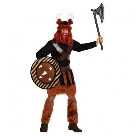 Disfraz de vikingo con escudo