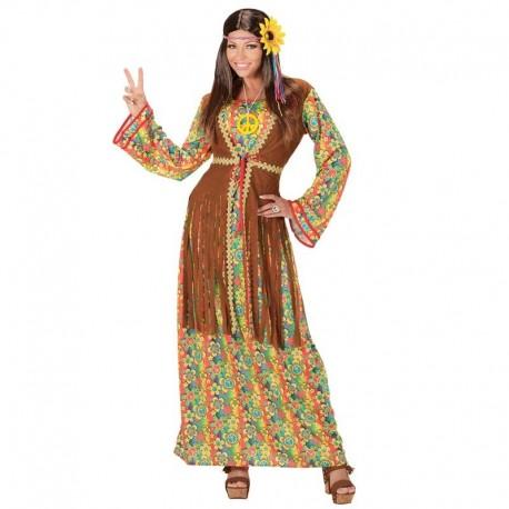 Disfraz de hippie chica largo