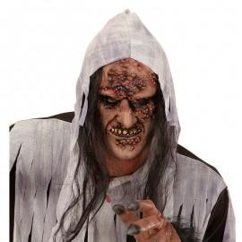 Mascara zombie con pelo