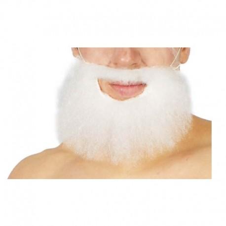 Barba lisa infantil blanca