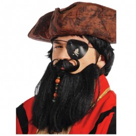 Barba y bigote pirata morena