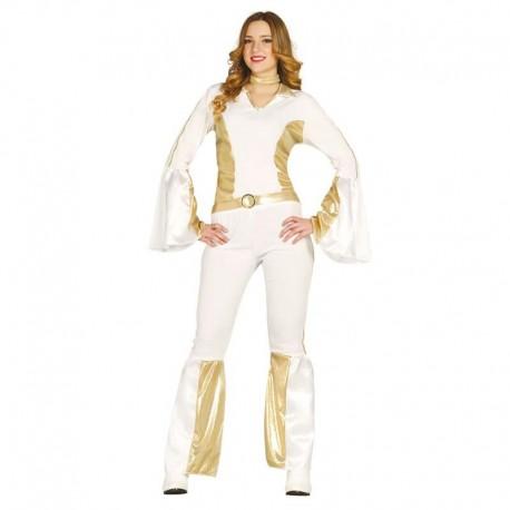 Disfraz de ABBA chica blanco