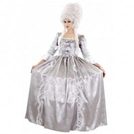 Disfraz de marquesa gris