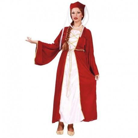 Disfraz de reina medieval granate