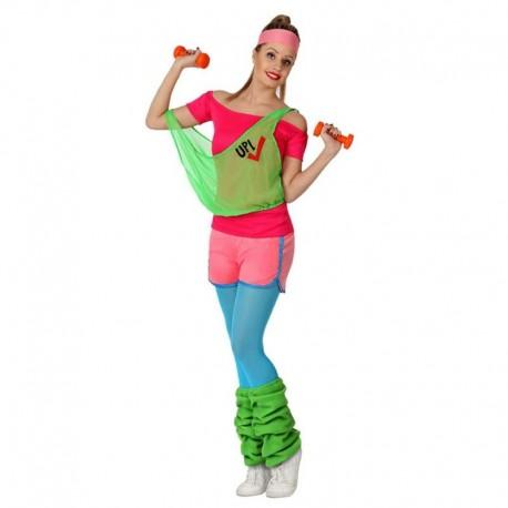 Disfraz de aerobic chica años 80