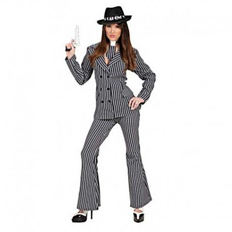 Disfraz de gangster chica pantalon