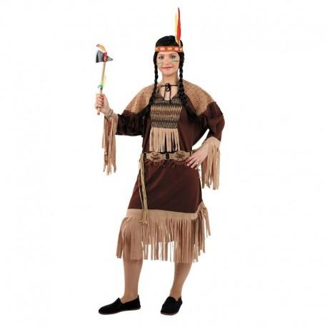 Disfraz de india larga con flecos