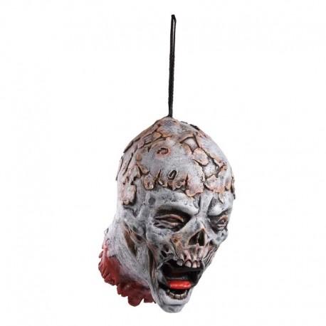 Cabeza cortada de zombie