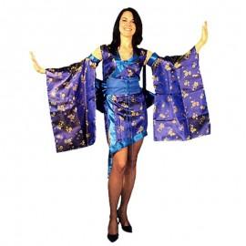 Disfraz de geisha sexy azul