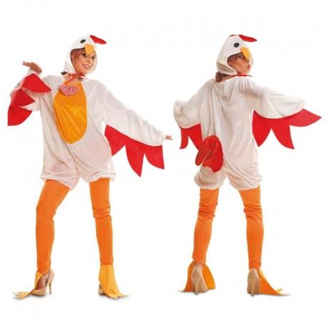 Disfraz de gallina blanca