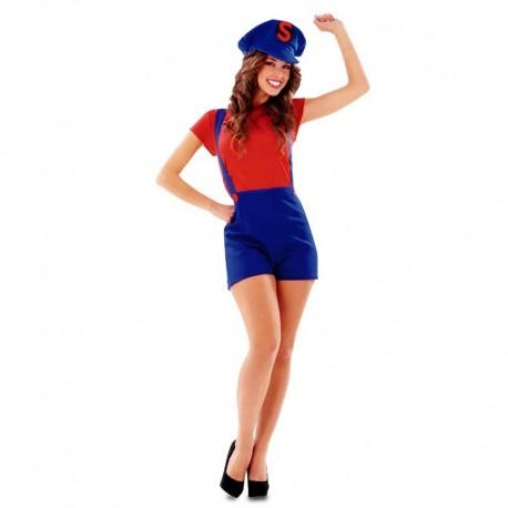 Disfraz de Mario Bros chica