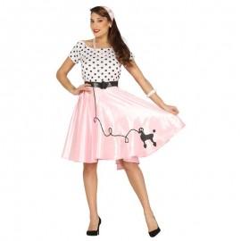 Disfraz de pink lady lunares