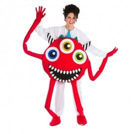 Disfraz de monstruo rojo