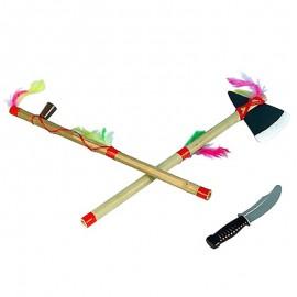 Set hacha pipa y puñal