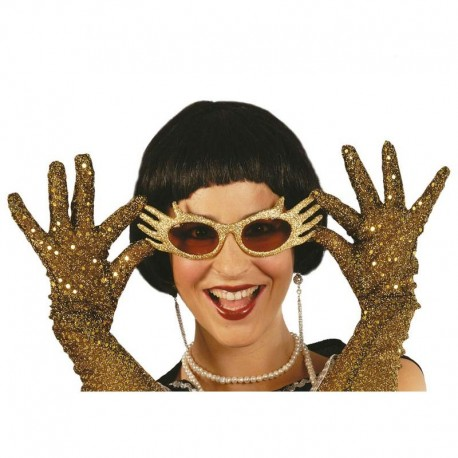 Gafas de picos con glitter