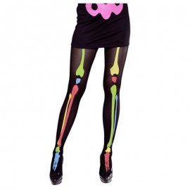 Panty de esqueleto de colores